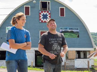 The micro grant helped Hillside Homestead construct a farm store